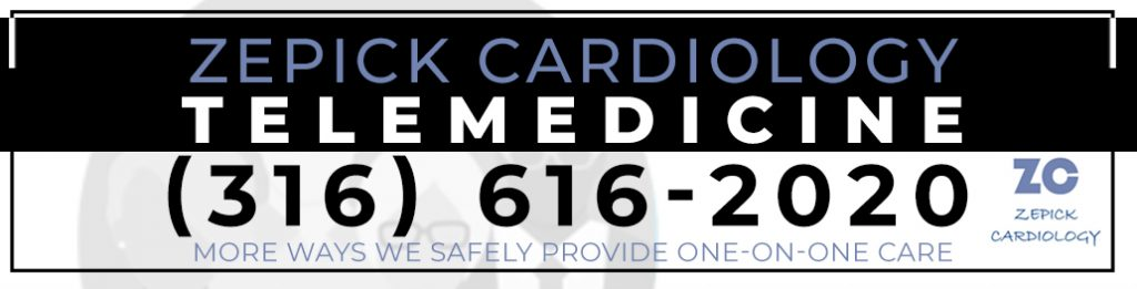 Telemedicine appointments available from Zepick Cardiology for heart patients in Wichita, KS Call (316) 616-2020