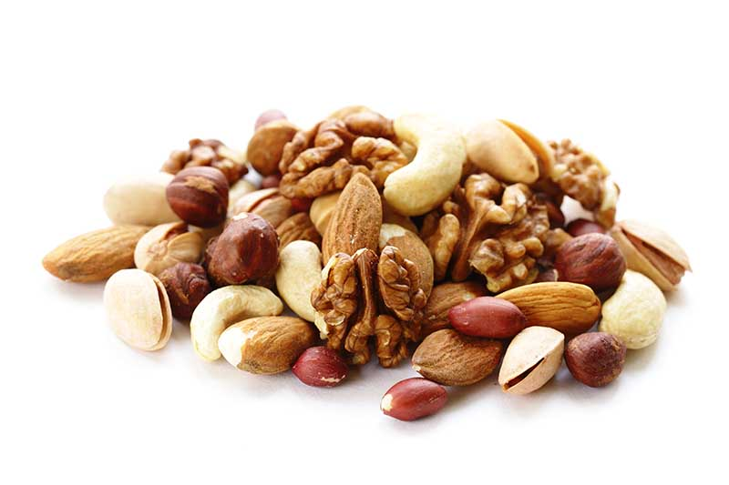 nuts are a great snack option in the Mediterranean diet