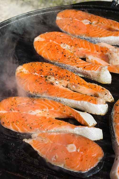 salmon is a good meal in the pesco mediterranean diet