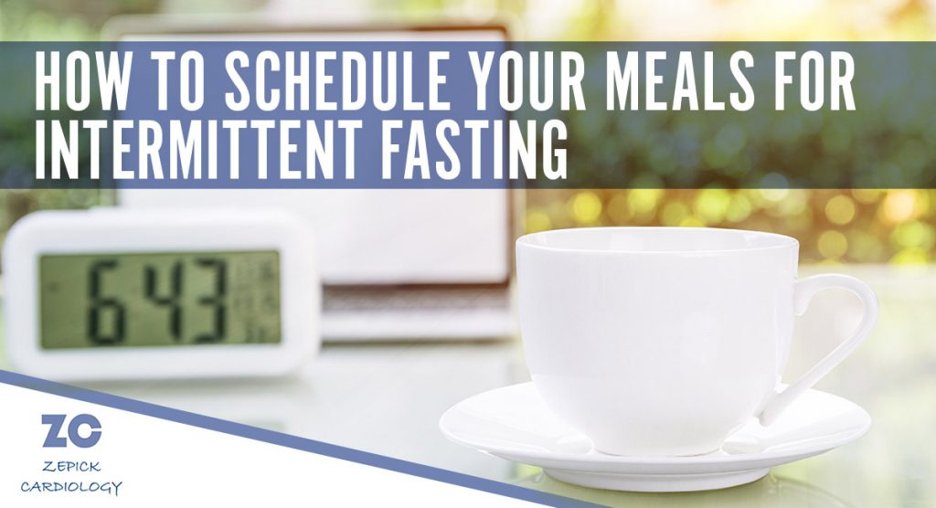 coffee cup with clock - How to schedule your meals for intermittent fasting